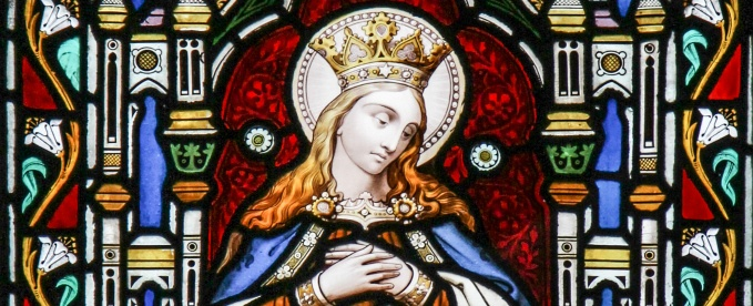 Blessed Virgin Mary stained glass - Aberdeen Cathedral – Aberdeen, Scotland