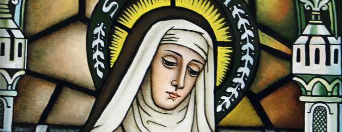 St. Rita of Cascia stained glass - unknown