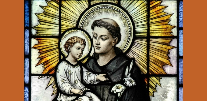 St. Anthony of Padua stained glass - St. Casimir's, Baltimore, MD