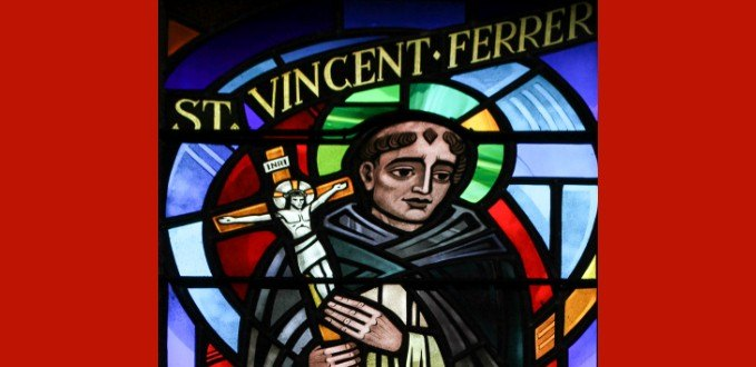 St. Vincent Ferrer stained glass - Baltimore Cathedral - Baltimore, MD