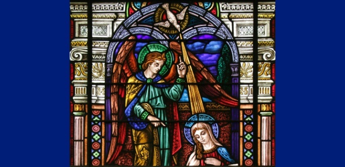 Annunciation stained glass - St Joseph's Church, Greenwich Village, NY