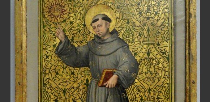 St. Bernardine of Siena painting - Statens Museum for Kunst - Copenhagen, Denmark