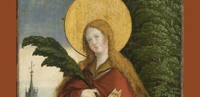 St. Eulalia with Palm by Meister von Meßkirch