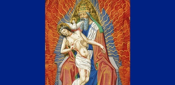 Detail of the Holy Trinity – Book of Hours – British Library Egerton Collection – London, England