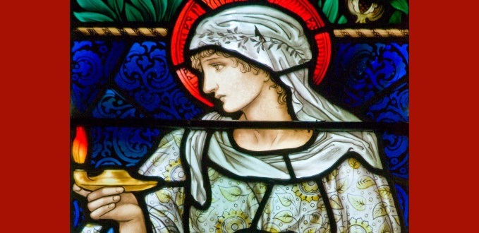 Faith stained glass – Parish Church of St. Mary – Buscot, Oxfordshire, England