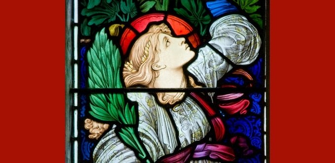 Hope stained glass – Parish Church of St. Mary – Buscot, Oxfordshire, England