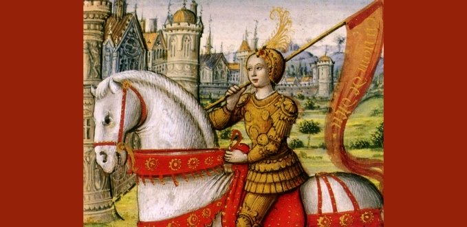 St. Joan of Arc illustration from a 1505 manuscript